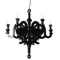 Black Paper Chandelier by Moooi