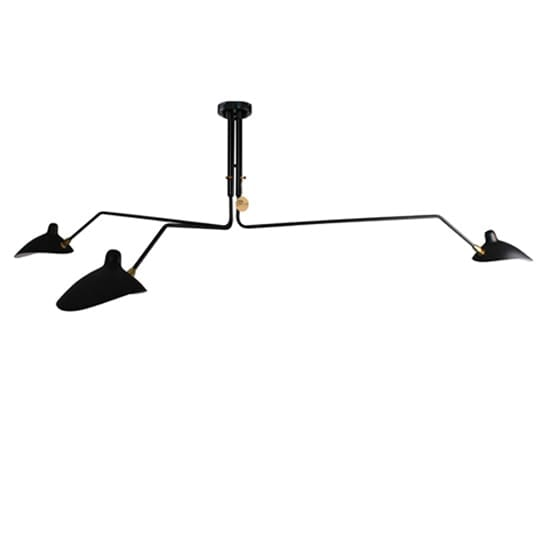 Serge Mouille Three Arm Ceiling Lamp Replica Lights