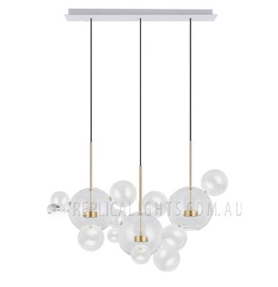 bolle 3 light chandelier