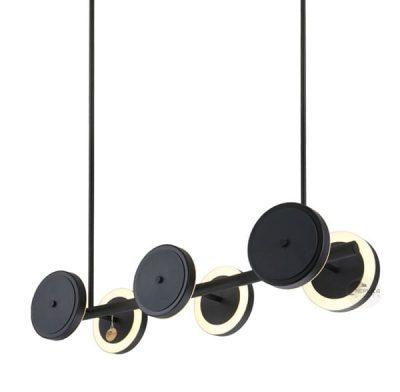 6 Light Black Pendant Le Royer