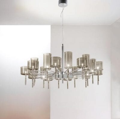 Spillray 20 Light Minimalist Chandelier