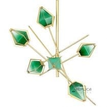 Prism 6 Jade Green Glass Chandelier Pendant Light