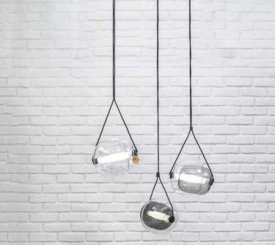 capsule glass pendant trio light