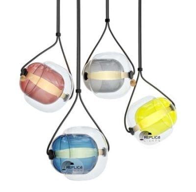 capsule coloured glass pendant lights