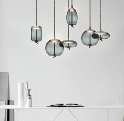 Fabric Cord Knot Light over table