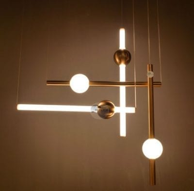 Modern LED Tube Pendant 4 Light