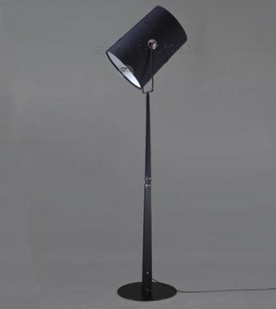 Black Metal Floor Lamp Upright by Foscarini