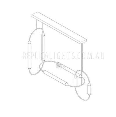 Brass-Tube-Ribbed-Glass-Pendant