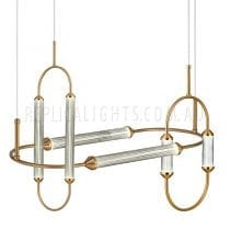 Brass-Tube-Ribbed-Glass-Pendant