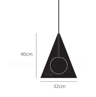 Triangle Plane Pendant Light Measurement