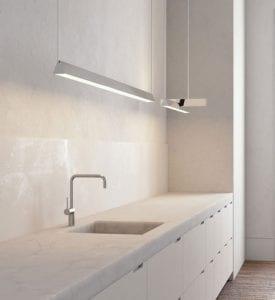 Bar Linear Pendant Light in Bathroom