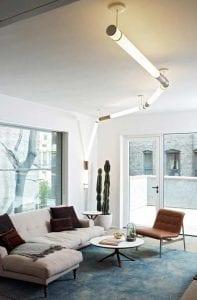 Linear Pendant Light in living room