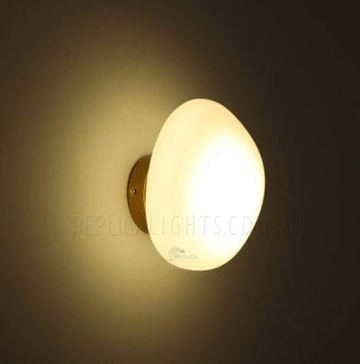opaque frosted white wall light
