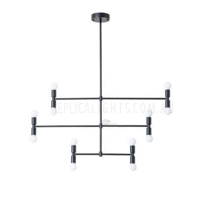 Adjustable Pendant Light Black Dot Series 12 Chandelier