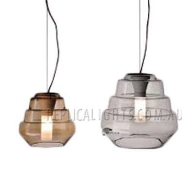 Overlay glass 3 tier pendant light