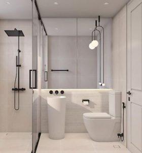 Bathroom glass pendant light