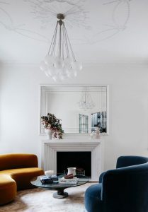 Living room glass pendant lights