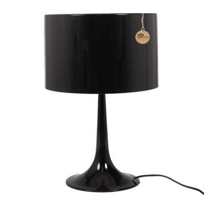 Flos Spun Black Table Lamp by Sebatian Wrong