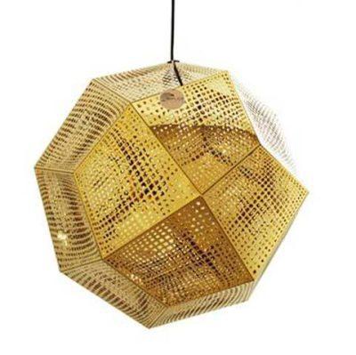 Tom Dixon Etch Shade Gold Pendant Light