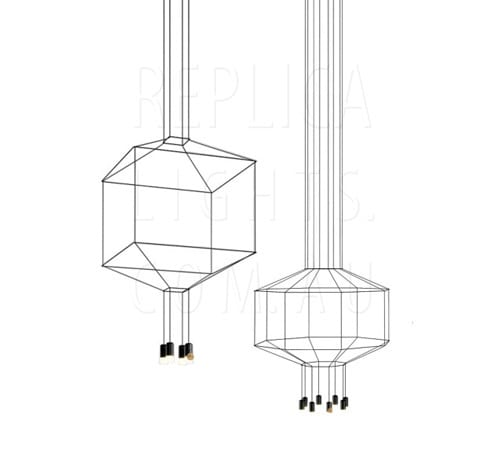Vibia Wireflow 3d Octagonal Wire Pendant Black Replica Lights