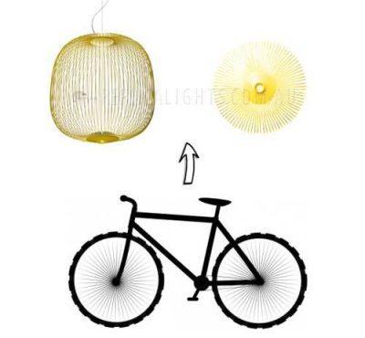 Foscarini Spokes 2 Yellow Pendant Light