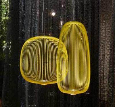 Spokes Yellow Pendant Light by Foscarini