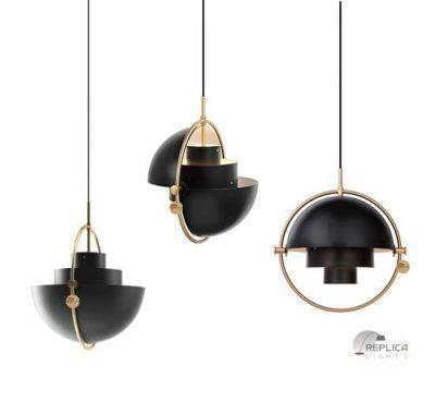 Multi Lite Black Pendant Light by Gubi Lighting