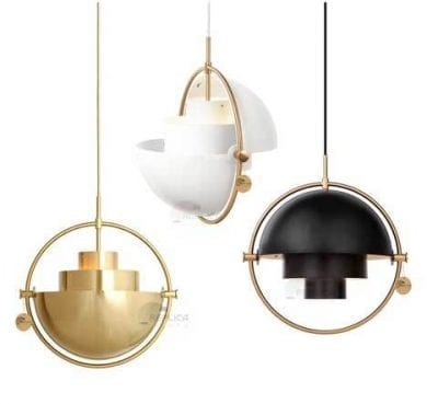 Multi Lite Gold White Black Pendant Lgiht
