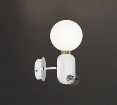 Parachilna Aballs White Wall Sconce by Jaime Hayon